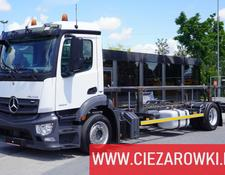 Mercedes-Benz chassis truck Antos 1824 , E6 , BDF , 70K km ! , Low deck , hydraulic lift ,