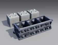 Bosch block making machine Forms for Concrete Blocks Cubes, Concrete, Blocks, Form, Retaini