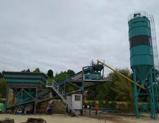 Constmach concrete plant Mobile Concrete Batching Plant, 60 M3/h Capacity, 2 Years Warran
