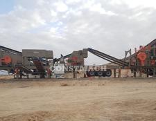 Constmach mobile crushing plant DOUBLE CHASSIS, 120 tph CAPACITY, MOBILE JAW and IMPACT CRUSHER