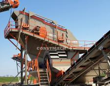 Constmach crushing plant SCREENING PLANT WITH VIBRATING SCREEN WITH WASHING SYSTEM