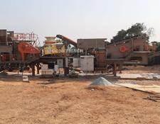 Constmach crushing plant MOBILE  JAW + CONE + VSI  CRUSHER, 60 tph CAPACITY